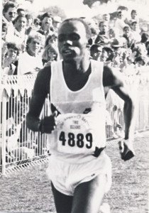 Thulani on his way to a famous victory at the 1986 Old Mutual Two Oceans Marathon.