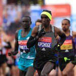 Eliud Kipchoge was just eight seconds off the marathon world record. Getty Images