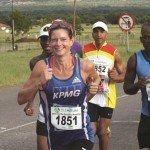 Caroline Wostmann running