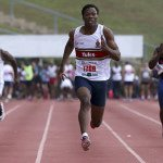 Gift Leotlela (TuksSport High School) won the 200m at the CAA Southern Region Under-20 Championships in an Olympic qualifying time of 20.47s