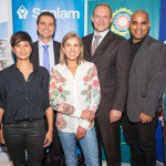 Tara McGovern (SPCA), Kamini Pather  (Masterchef SA Winner), Carl Roothman (Chief Executive of Sanlam Investments Retail Business), Elana Meyer (Race Ambassador), Francois Pienaar (Race Ambassador), Cllr  Eddie Andrews ( City of Cape Town), Jakes Jacobs (EXCO)
