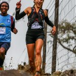 Kate Gounaris enjoying a thrilling downhill section on the 38km 1000 Hills Challenge route.