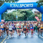 Runners at the start of the Durban leg of the Totalsports Women's Race on Sunday, 17 July 2016.  Photo Credit:  Tobias Ginsberg