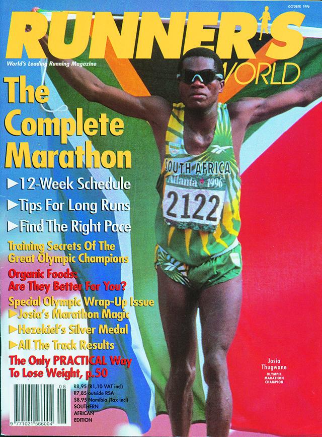 Our October 1996 Runner's World Cover, celebrating Thugwane's victory.