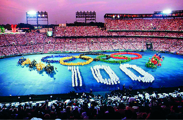 Atlanta 1996 Opening Ceremony (Photo by Bongarts/Getty Images)
