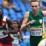 RIO DE JANEIRO, BRAZIL. 15 September 2016. South Africa's Charl du Toit during the 400m final of the Paralympics in Rio de Janeiro today. Du Toit won the gold medal.  Copyright picture by WESSEL OOSTHUIZEN / SASPA