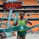 Sintayethu Legese Yinesu - The men's Soweto Marathon winner. Jetline Action Photography