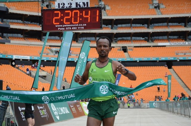 Sintayethu Legese Yinesu - The men's Soweto Marathon winner. Jetline Action Photography