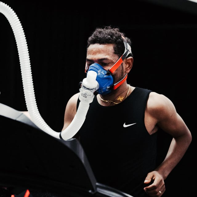 Tadese's key vitals were recorded and measured during tests at Nike headquarters. Photograph courtesy of Nike / Clayton Cotterell