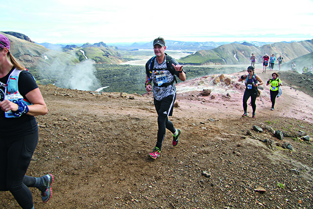 Warren running in the Laugavegur Ultra Marathon