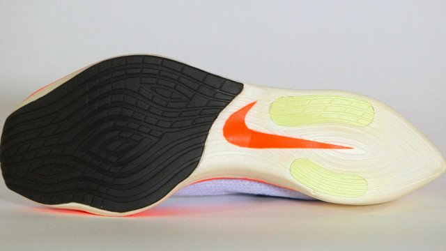 The unusual, tapered heel of the Vaporfly Elite is intended to reduce drag. Derek Call