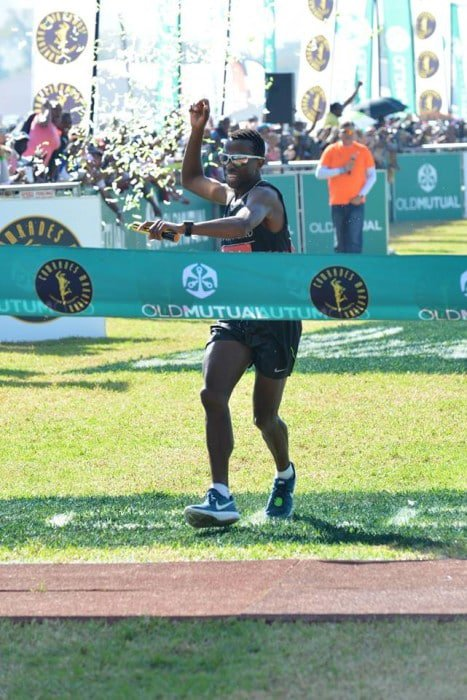 Comrades wrap bongmusa makes history runners world image taken from comrades facebook page negle Images
