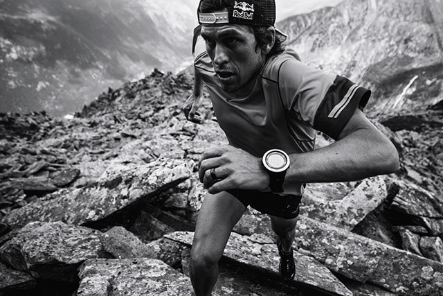 Ryan Sandes runs  in Chamonix, France on July 26th, 2016 // Kelvin Trautman / Red Bull Content Pool // P-20160729-01933 // Usage for editorial use only // Please go to www.redbullcontentpool.com for further information. //
