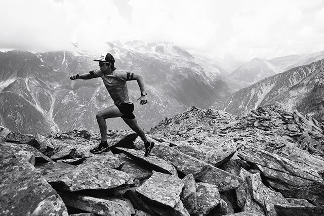 Ryan Sandes runs  in Chamonix, France on July 26th, 2016 // Kelvin Trautman / Red Bull Content Pool // P-20160729-01954 // Usage for editorial use only // Please go to www.redbullcontentpool.com for further information. //