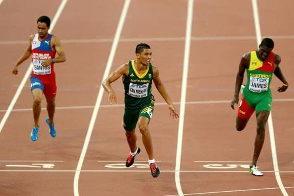 Wayde van Niekerk wins the 400m at the IAAF World Championships, Beijing 2015 (Getty Images) © Copyright