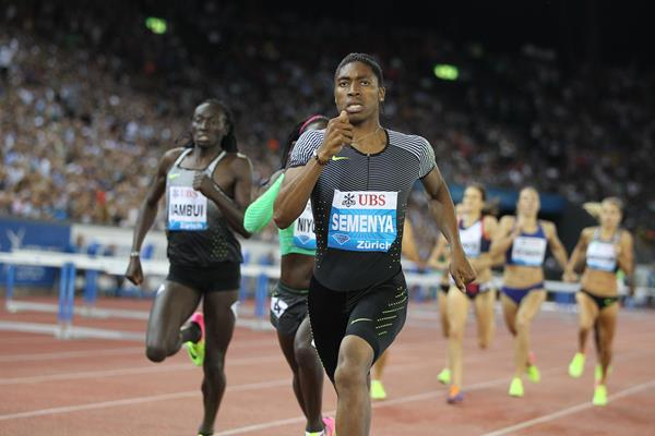 Caster Semenya wins the 800m at the IAAF Diamond League meeting in Zurich (Jean-Pierre Durand) © Copyright