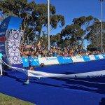 Asefa Negewo (Ethiopia) winning the Sanlam Cape Town Marathon in 2:10.01. Image from CT Marathon Facebook Page.