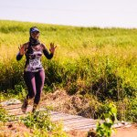 Buyi Makhoba gives the Rocky Bay trails the thumbs up! Photographer - Julian Schroeder.