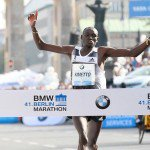 Dennis Kimetto runs the fastest marathon time in history (2:02:57) on a record-eligible course at the 2014 Berlin Marathon. PhotoRun
