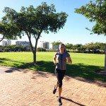 Lisa Abdellah regularly trains on the Gun Run route. Image by Alex Abdellah