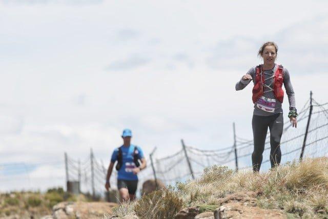 Tracey Campbell wins the 2017 SkyRun 100km women's race. Image by Bruce Viaene.