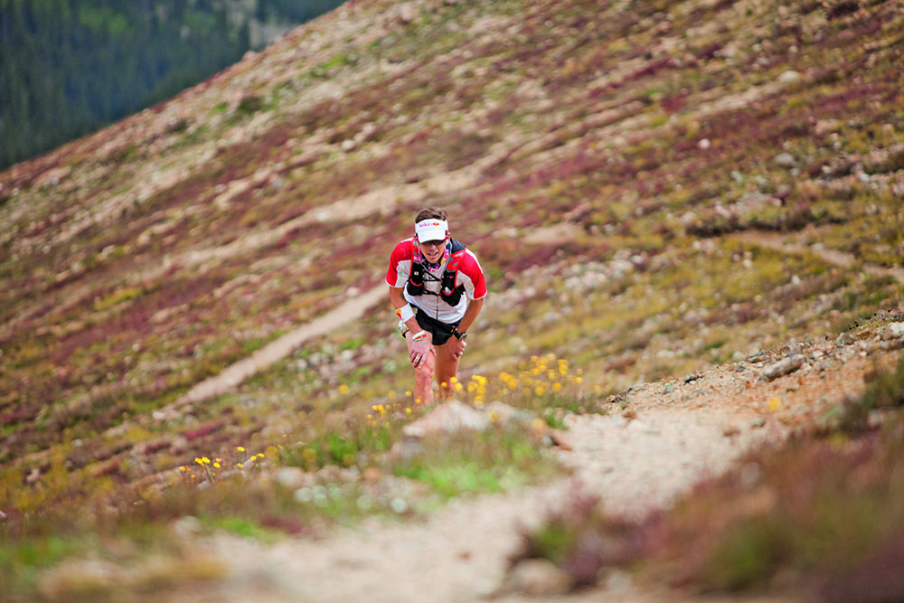 Leadville (aka The Race Across The Sky) features 4800m of ascent/descent. Most years, fewer than half the starters finish within the time limit. Image by Ricky Gates/Red Bull Content Pool