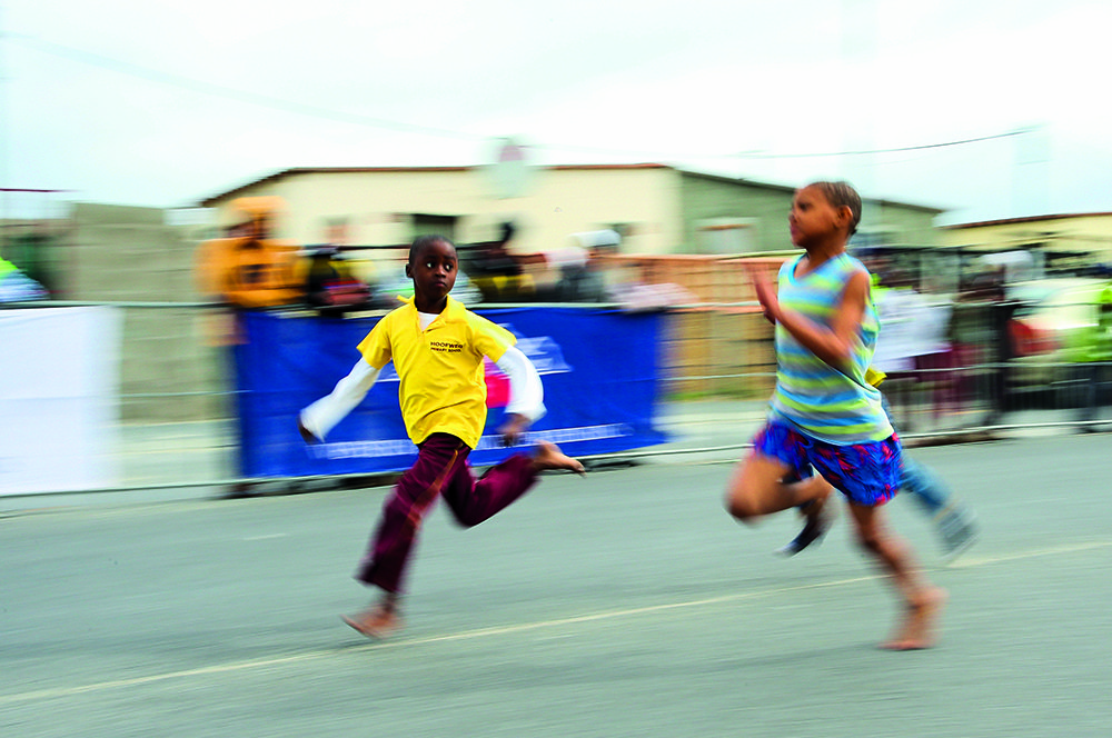 CAPE TOWN, SOUTH AFRICA - Wednesday 23 August 2017, children from Wesbank participate in Western Province Street Athletics in Main Road, Wesbank. Photo by Roger Sedres