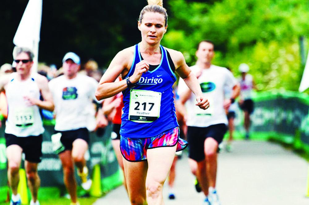Running running in a race