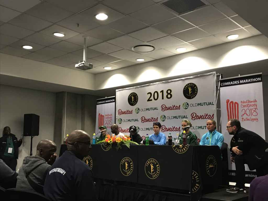 elites at the comrades 2018 press conference