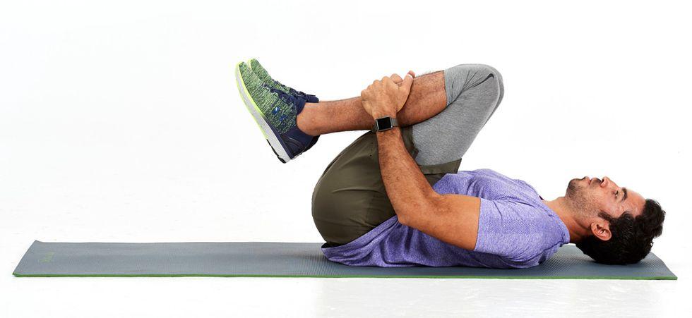 post-run stretches