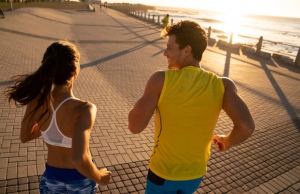 what's the correct running etiquette for chatting on the run?