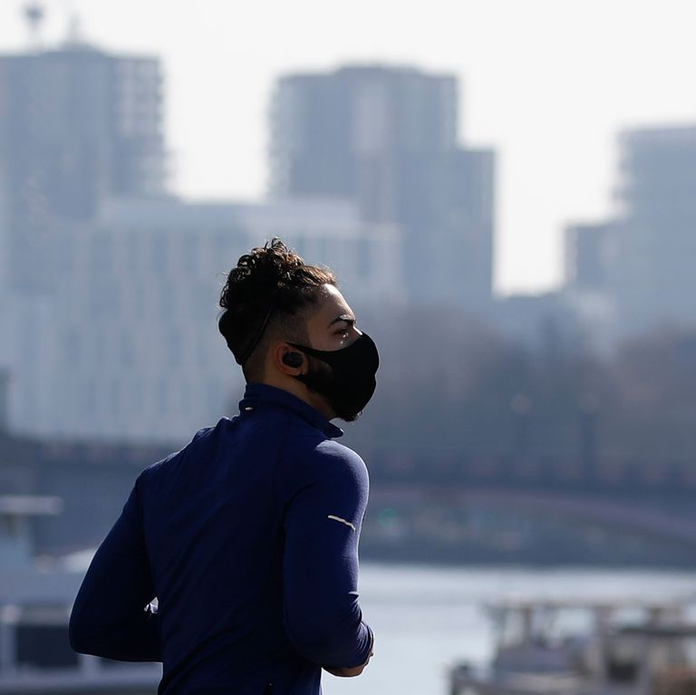 running with a mask